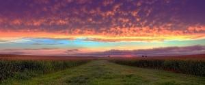 sunset after a storm beautiful photograph