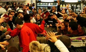 Black Friday shopping crowd