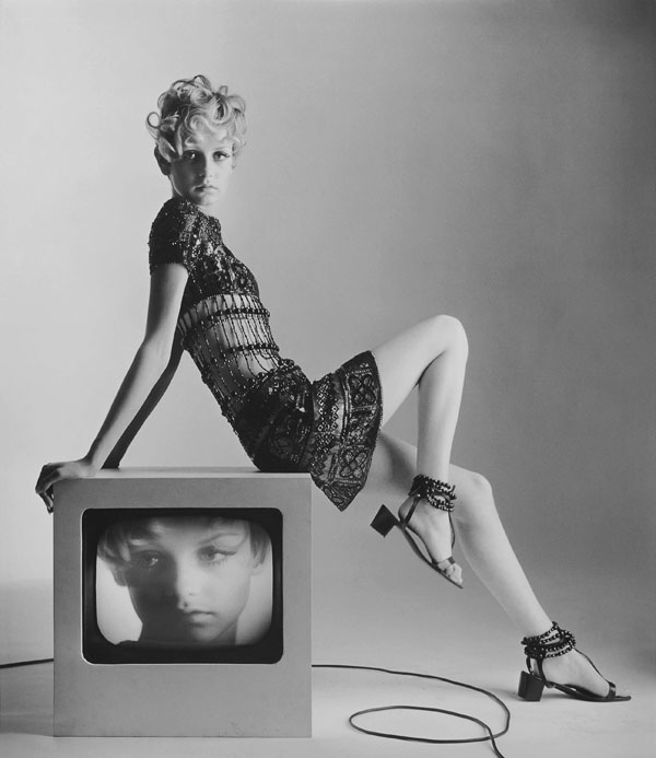 Iconic Picture of Twiggy in YSL by Bert Stern 1967
