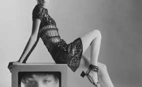 Iconic photo of Twiggy in YSL by Bert Stern 1967