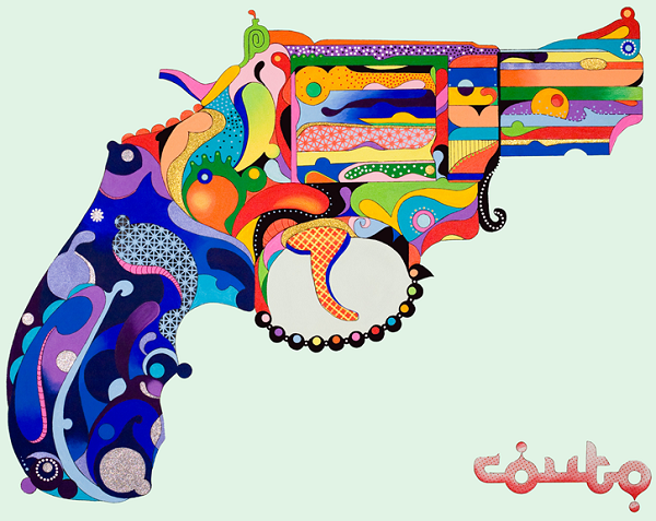 Couto Brothers painting of a gun