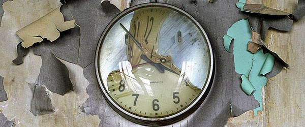 Ruins of Detroit photograph melted clock