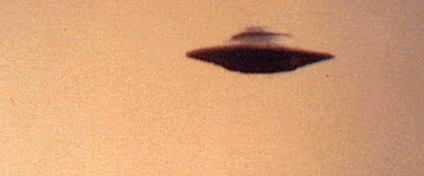 Blurry photograph of supposed flying saucer UFO