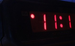 Photograph of alarm clock at 11:11