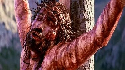 Jesus on the cross suffering
