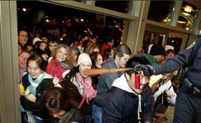 pepper-spray mallcop on black friday or christmas, re: Occupy