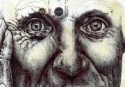 Art Shot: Ballpoint Pen Sketches on Old Envelopes