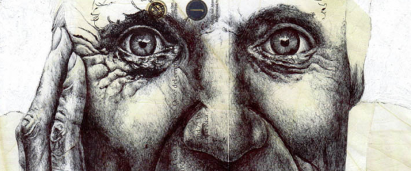 Art Shot: Ballpoint Pen Sketches on Old Envelopes