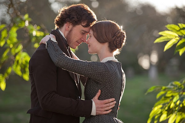 A still of a couple embracing from the film Jane Eyre