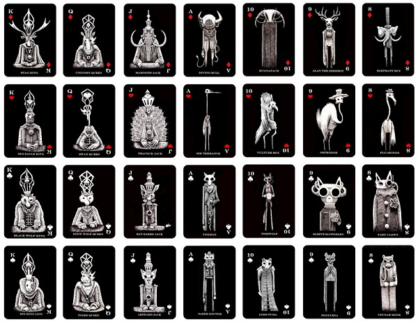 a deck of playing card designs by mr.mead