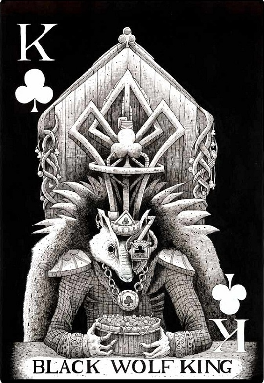 playing card design called Wolf King by Mr.Mead UK