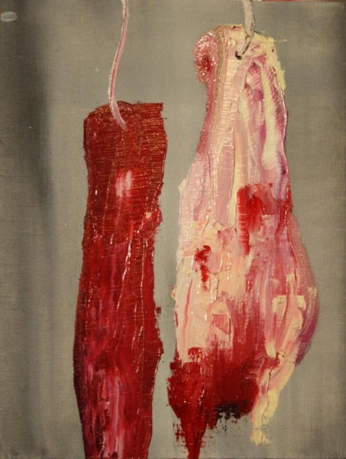 "Karen Grosman's ""Meat Collection"" painting is depiction of women in media"