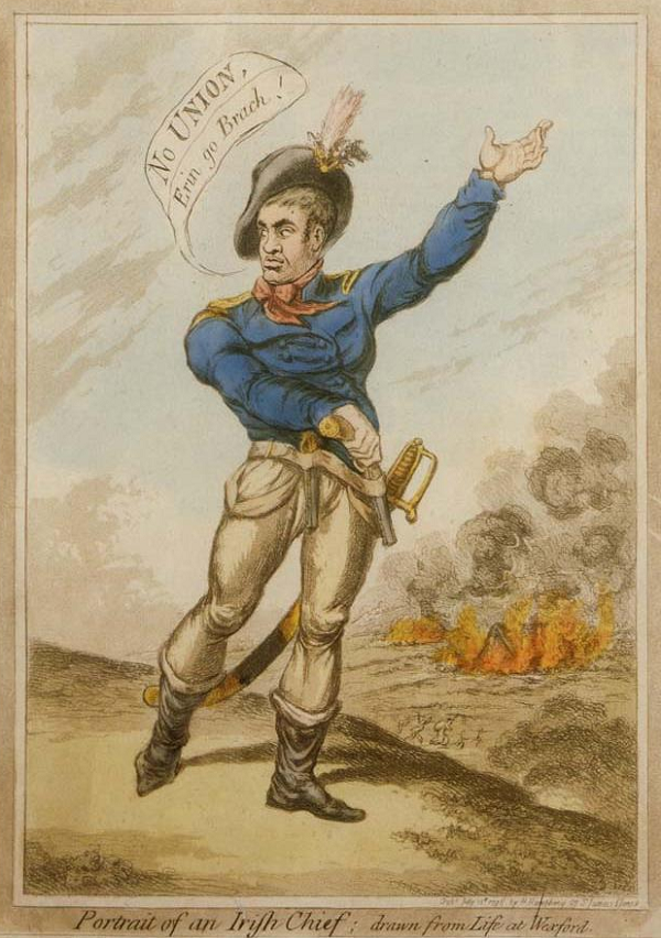 Irish Henry Grattan depicted by British James Gillray 1798, rebellion