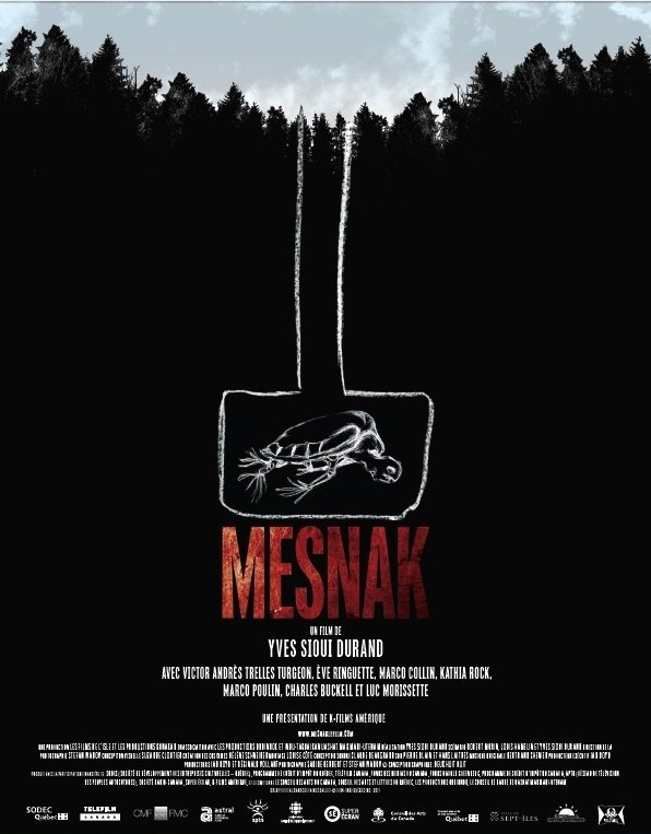 poster for the trilingual  Canadian film Mesnak