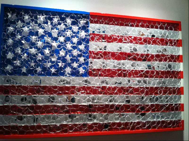 art featuring the american flag