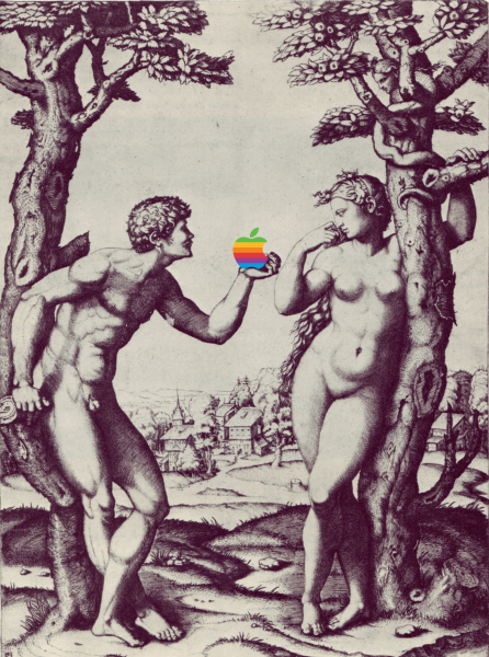 artwork by Montreal artist Emmanuel Laflamme featuring Adam and Eve