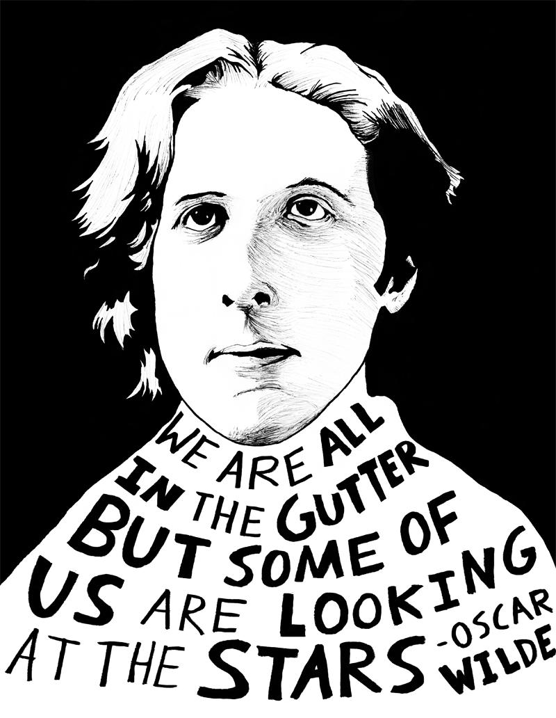 Oscar Wilde depicted in art by Ryan Sheffield