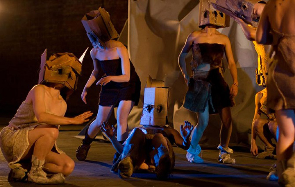Adam James - The Mudhead Dance. 2013. Performance still.