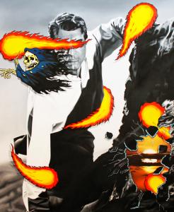 man, flames, death, grim reaper, hollywood