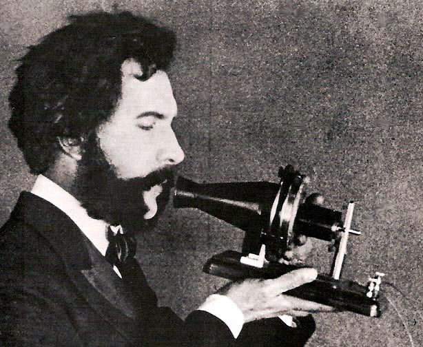 Actor portraying Alexander Graham Bell in an AT&T promotional film
