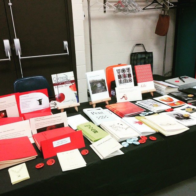 angelhouse_bywords table small press fair