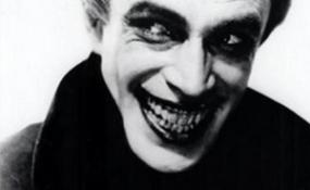 """('The Joker': an """"evil-clown"""" depiction of pop culture.)"""